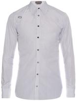 Alexander McQueen Harness pinstripe cotton-poplin shirt