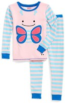 Skip Hop Toddler Girl's 'Zoojamas - Butterfly' Two-Piece Pajamas