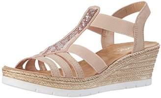 Rieker 61913, Women's Closed Toe Sandals, Multicolored (Altrosa / 31), (40 EU)