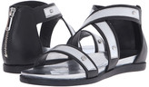 Armani Jeans Leather and Mirror Leather Sandal