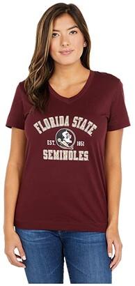 Champion College Florida State Seminoles University 2.0 V-Neck T-Shirt (Maroon) Women's Clothing