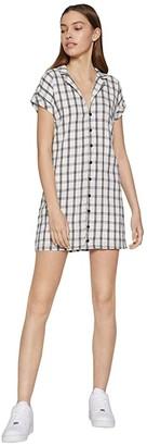 BCBGeneration Day Short Sleeve Woven Dress - TSD6271512 (Off-White) Women's Dress