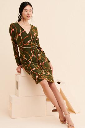 Lauren Ralph Lauren Casondra Belted Jersey Dress