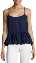 F.T.B by Fade to Blue Woven Bubble Tank, Navy