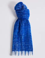 M&S Collection Herringbone Blanket Scarf