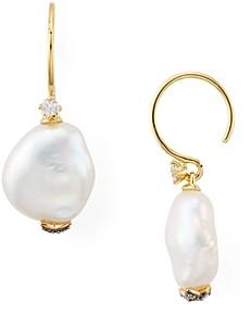 Nadri Liv Cultured Keshi Pearl Drop Earrings