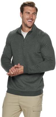 Croft & Barrow Big & Tall Long Sleeve Fleece Quarter-Zip Pullover