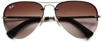 Ray-Ban RB3449 59MM Semi-Rimless Aviator Sunglasses