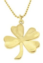 Yellow Gold Four Leaf Clover Necklace