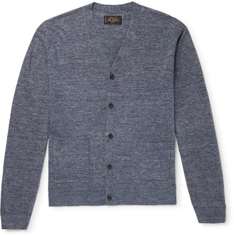 Beams Melange Linen Cardigan