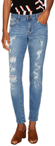 Rachel Roy Destructed Cotton Stretch Ankle Jean
