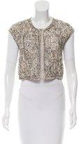 Oscar de la Renta Silk Cropped Vest w/ Tags