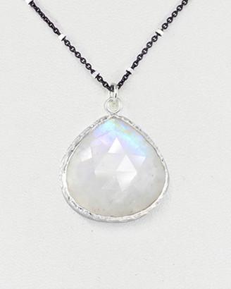 Rachel Reinhardt Silver Moonstone Teardrop Necklace
