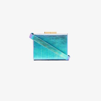 Marzook blue Capsule iridescent leather belt bag
