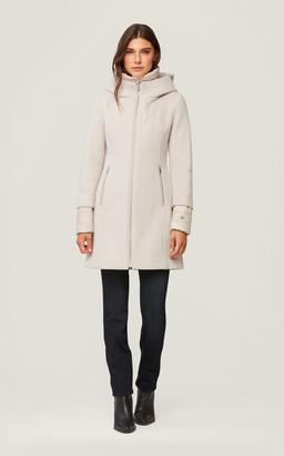 Soia & Kyo ROONEY mixed media coat with puffy bib