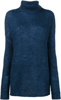 Simon Miller Blue Roll neck knitted jumper