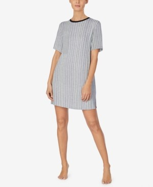 DKNY Women's Printed Sleep Shirt Nightgown