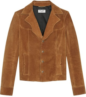 Saint Laurent Suede Western Jacket