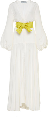 Silvia Tcherassi Felicity Tie-Waist Silk Maxi Dress