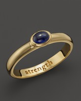 "Monica Rich Kosann 18K Yellow Gold ""Strength"" Posey Ring with Sapphire"
