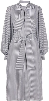 MSGM Stripe Print Poplin Shirt Dress