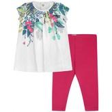 Catimini CatiminiBaby Girls Tropical Dress & Leggings Set