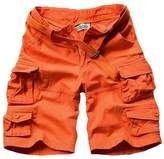 WSLCN Men Cargo Camo Casual Cotton Shorts (NO BELT)