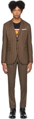 Neil Barrett Brown Pinstripe Suit