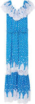 Miguelina Thalia Adjustable Off Shoulder Lace Cotton Maxi Dress
