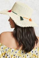 Forever 21 FOREVER 21+ Tasseled Floppy Straw Hat