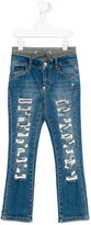 Philipp Plein Junior distressed jeans