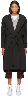 McQ Black Festival Parka Wrap Coat