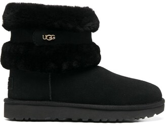 UGG Fluff Mini Belted ankle boots