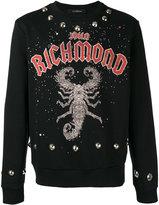John Richmond scorpion print sweatshirt - men - Cotton/Polyester - L