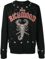 John Richmond scorpion print sweatshirt - men - Cotton/Polyester - M