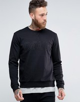 HUGO BOSS HUGO By Crew Sweatshirt Embroidered Logo