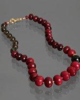 ruby quartz large beaded necklace