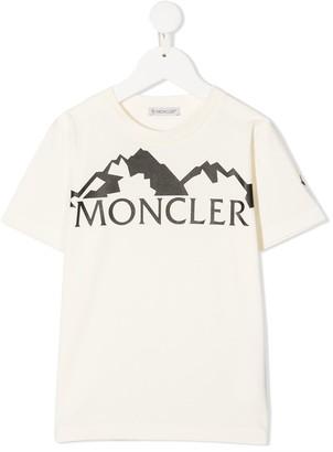 Moncler Enfant logo-print cotton T-shirt