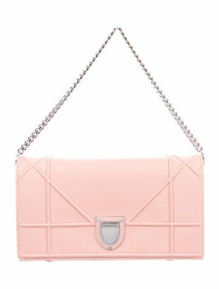 Christian Dior Diorama Wallet on Chain Pink