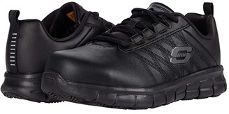Skechers Sure Track - Martley (Black) Women's Shoes