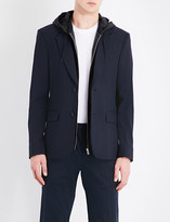 Sandro Hooded wool-blend jacket