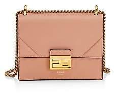 Fendi Women's Kan U Leather Shoulder Bag