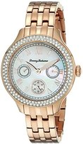 Tommy Bahama Women's 10018330 Waikiki Dream Multifunction Rose Gold-Tone Watch with Crystal Markers