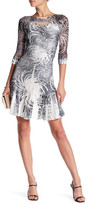 Komarov 3/4 Length Sleeve Boatneck Dress