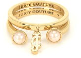 Juicy Couture Pearl Ring Set