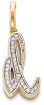 Monica Vinader Diamond Alphabet Pendant D