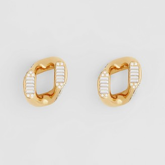 Burberry Crystal Gold-plated Chain-link Earrings - Online Exclusive
