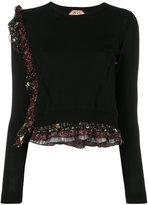 No.21 layered ruffled detail jumper