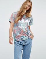 adidas Pastel Camo Print Trefoil T-Shirt