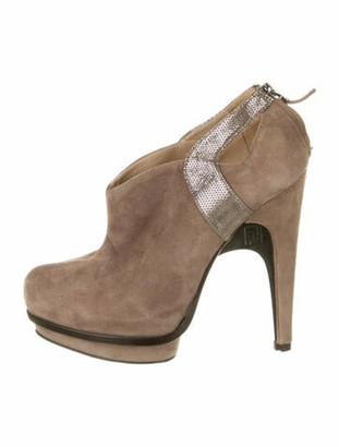 Fendi Suede Cutout Accent Boots